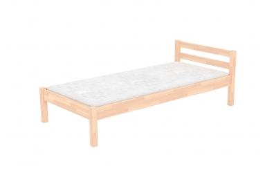 Jednolůžko s nízkým čelem buk cink, dětská postel z masivu