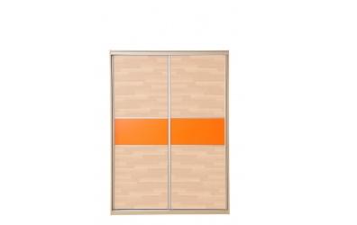 Skříň s posuvnými dveřmi 160 cm buk cink
