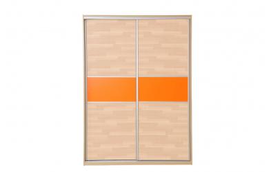 Skříň s posuvnými dveřmi 160 cm lamino. dveře buk cink