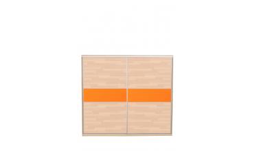 Skříň s posuvnými dveřmi  250 cm lamino, dveře buk cink
