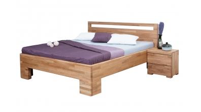 Manželská postel SOFIA čelo rovné s výřezy 180 cm dub cink