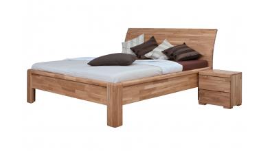 Manželská postel FLORENCIA čelo oblé plné 180 cm dub cink