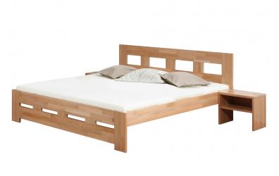 Manželská postel MERIDA 140 cm buk cink