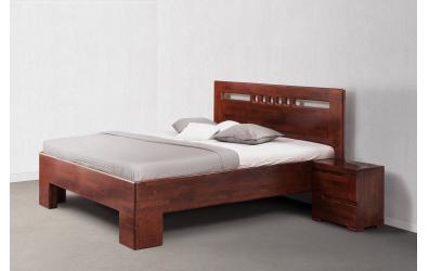 Manželská postel SOFIA čelo rovné čtverečky 160 buk cink