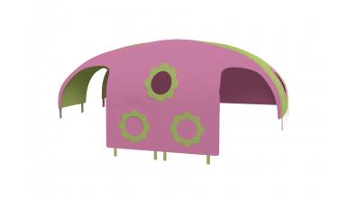 Domeček stan pro dělené čelo a zábranu A B levý - zeleno/růžový