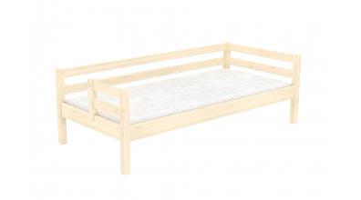 Jednolůžko s děleným čelem levé smrk, dětská postel z masivu