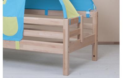 Jednolůžko s děleným čelem pravé smrk, dětská postel z masivu