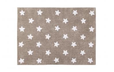 Koberec LORENA CANALS hvězdičky, světle hnědý