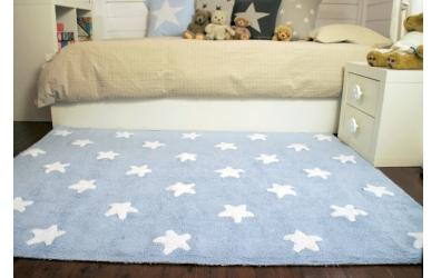 Koberec LORENA CANALS hvězdičky, světle modrý