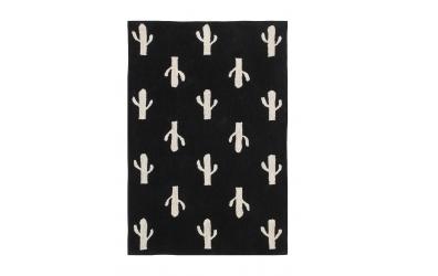 Koberec LORENA CANALS kaktusy, černý