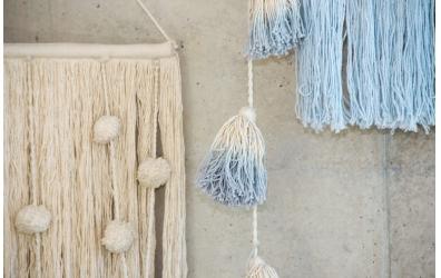 Girlanda LORENA CANALS Pom Pom Tie-Dye Soft Blue