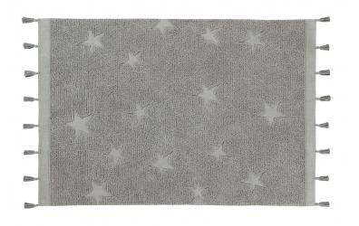 Koberec LORENA CANALS hvězdičky střapce, šedý
