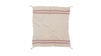 Deka LORENA CANALS růžové pruhy, krémová