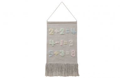 Dekorace na zeď LORENA CANALS čísla s trásněmi, béžová