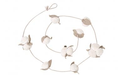 Girlanda LORENA CANALS, květy bavlníku