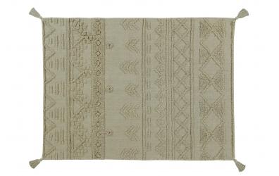 Koberec LORENA CANALS kmenové vzory, olivový, S