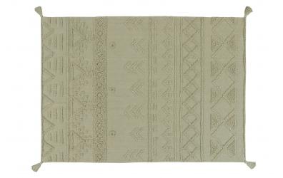 Koberec LORENA CANALS kmenové vzory, olivový, M