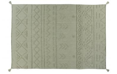 Koberec LORENA CANALS kmenové vzory, olivový, L