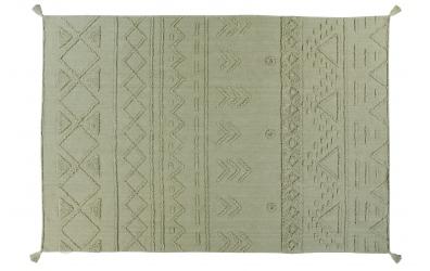 Koberec LORENA CANALS kmenové vzory, olivový, XL