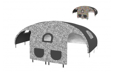 Domeček stan Comics pro zábranu A B (více variant)