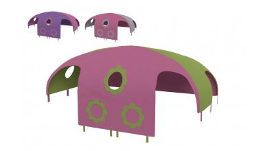 Domeček stan pro dělené čelo a zábranu A B pravý Kytky (více variant)